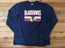 '47 Chicago Blackhawks Hockey NHL Long Sleeve Shirt - Charcoal - Sz XL