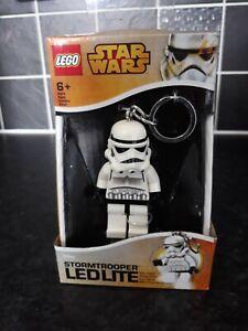 LEGO Star Wars Stormtrooper Minifigure Keyring Keychain LED Light Torch