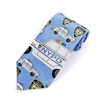 NYPD Police Car Blue Mens Suit Tie NEW