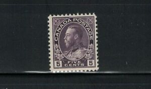 CANADA-MNH-K.G.V ADMIRAL ISSUE #112/5 CENT WET PRINT/F/VF VIOLET 1922 SEE PHOTO