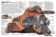 Enmarcado impresión-Star Wars esquemático MTT vehículo de transporte grande (Imagen Arte)