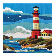 Lighthouse Country Threads Long Stitch Kit 30 X 30cm Includes Canvas & Wool