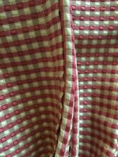 Fabulous Custom Check Duvet Cover~Robert Allen Fabric F/Q Red&Beige