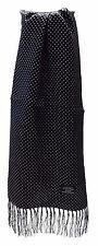 TOOTAL vintage noir homme Broche pois 100% écharpe en soie