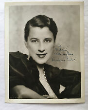 ORIGINAL BEATRICE LILLIE AUTOGRAPH 8x10 PHOTO 1930s WARDROBE MISTRESS COLLECTION