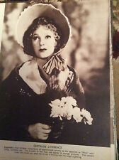 F5-1  Ephemera film 1935 picture film star gertrude lawrence