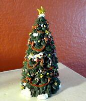 Grandeur Noel Victorian Christmas Village Town Christmas Tree  2001 Miniature