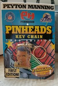 PEYTON MANNING - NEW Pinheads Key Chain First Edition 1999 Colts NFL Quarterback