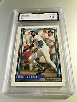 EDDIE MURRAY (HOF) 1992 Topps #780 GMA Graded 10 Gem Mint