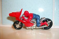 Corgi Spiderman Spiderbike Spidercycle Motorcycle with Spiderman Rider