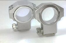 RUGER STYLE HIGH RISE 30MM/1 INCH HEAVY DUTY SCOPE RING PAIR SILVER SET OF TWO