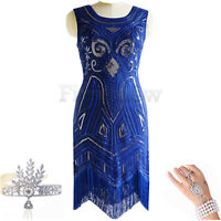 1920s Vintage Flapper Dress Fringe Charleston Downton Abbey Great Gatsby Dresses