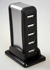 USB 2.0 hub 7 Port activamente de distribución con fuente de alimentación y soporte para win, Linux, Mac