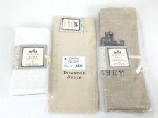 Downton Abbey Heritage Lace Castle Placemats, Cloth Napkins, Wine Bag Lot