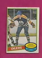 1980-81 OPC  # 289 OILERS MARK MESSIER  ERROR ROOKIE  EX-MT CARD  (INV# A536)