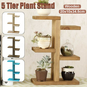 5 Tier Ladder Shelf Display Unit Home Bookcase Stand Plant Flower Book Hot