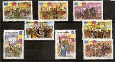 Romania 1990 Army Revolution Sc # B449-B456 Mnh