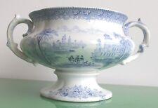 """Grand J & M.P Bell Bleu & Blanc Victorien """"Lacs italiens du piédestal SOUPIERE c.1860"""