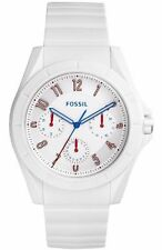 NWT Fossil Mens FS5223 'Poptastic Sport' Multi-Function White Silicone Watch $95