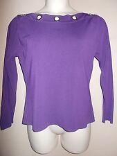 Colour Works Womens Size XL Solid Purple Pullover Stretch Sweater Long Sleeves