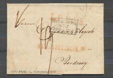GRONINGEN, ROOD LANGST. k27 OP BRIEF - BORDEAUX 12.2.1819, PORT 19 DÉC.   Zj122