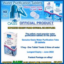 Water purification tablets Oasis 20pk cheapest tabs travel hiking camping prep