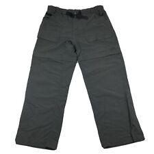 The North Face Belted Dark Gray Convertible Hiking Pants Mens Sz Large Short