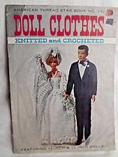 "Vintage American Thread Star Book Doll Clothes Knitted & Crocheted For 11"" & 12"""