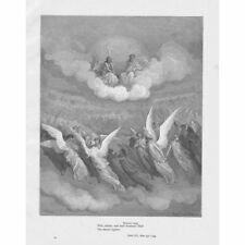 Paradise Lost Heaven Rung... Gustave DORE-ANTIQUE PRINT c1875