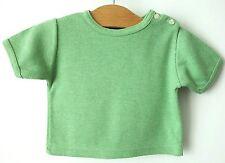 T-shirt vert Gina Diwan garçon 1 an 100% coton porté 2 fois état NEUF