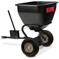 Tow-Behind Fertilizer Spreader 175-Pound Polyethylene Hopper Lawn NEW