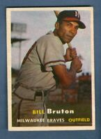 1957 Topps BILL BRUTON #48 Braves *NEARMINT*