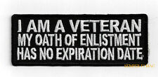 I AM A VETERAN MY OATH HAT PATCH US ARMY MARINES NAVY AIR FORCE PIN UP COLD WAR
