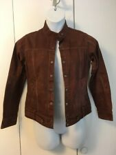 Columbia Womens S brown XCO Cotton Denim Jean Jacket snap down front