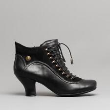 6d0e8e241cc2 Hush Puppies Vivianna Women s Black Medium Heel Zip up Leather Shoe BOOTS  UK 6