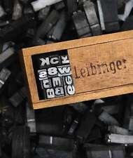 Buchstabensalat BREITE AKZIDENZ GROTESK 16p 5,5 mm Bleilettern Bleischrift ABC