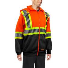DuraDrive CSA Hi-Vis Orange/Black Class 2 Level 2 Hoodie with Detachable Hood