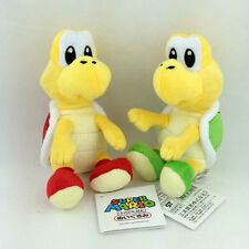 2X Super Mario Bros Koopa Troopa Nintendo Plush Toy Stuffed Animal Red Green 6""
