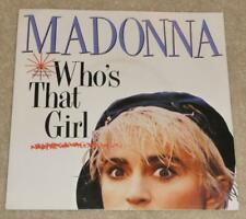 "MADONNA Who's That Girl AUSTRALIAN 7"" VINYL SINGLE with Card P/S 7-28341 N.MINT!"