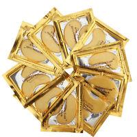 10pcs Premium Crystal Collagen Gold Powder Eye Mask Face Pad Anti Ageing Wrinkle