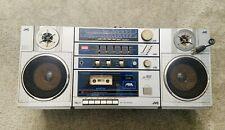 Vintage JVC PC-150JW Stereo Cassette Boombox System Ghettoblaster Loud Working