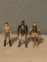 Vintage Star Wars Bundle Leia Boushh Disguise, Leia Endor & Lando Skiff 1982-84
