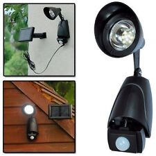 MOTION SENSOR OUTDOOR SECURITY LIGHT WHITE LED FLOODLIGHT LAMP SOLAR POWER 1SEC