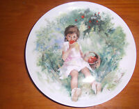 1978 Limoges MARIE ANGE Paul Durant  Girl Eating Apples  Limited Edition Plate