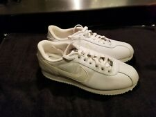 mens white nike cortez 72 shoes-size 10-preowned