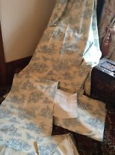 2 pair of vintage french toile de jouy curtains pelmets p case & cushion cover