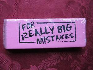 """Super Huge Pink Eraser For Big Mistakes 5.5"""" x 1.75"""" x .75"""""""