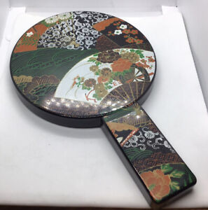 Vintage Japanese Lacquer Hand Mirror