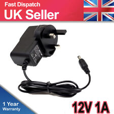 DC 12V 1A UK Plug Power Supply Adaptor Transformer for LED Strips  12W New