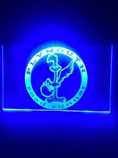 Plymouth Road Runner Mopar Blue Led Light Sign Game Room , Bar , garage Sign